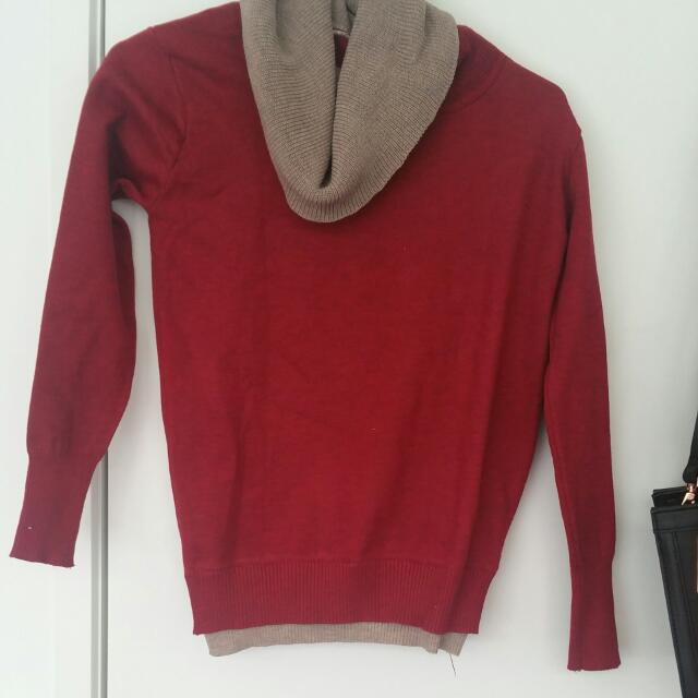 Very Thick Red Sweater