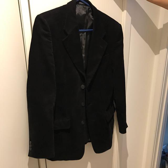 Wesley Olwen Italian Velvet Black Blazer Size L/38
