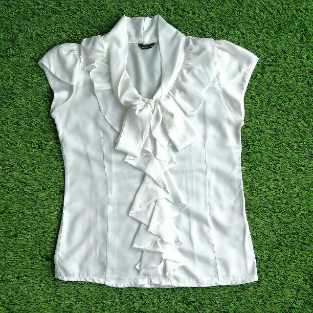 White Cascade Shirt Blouse