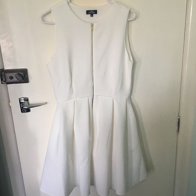 White Flared Semi Formal Dress