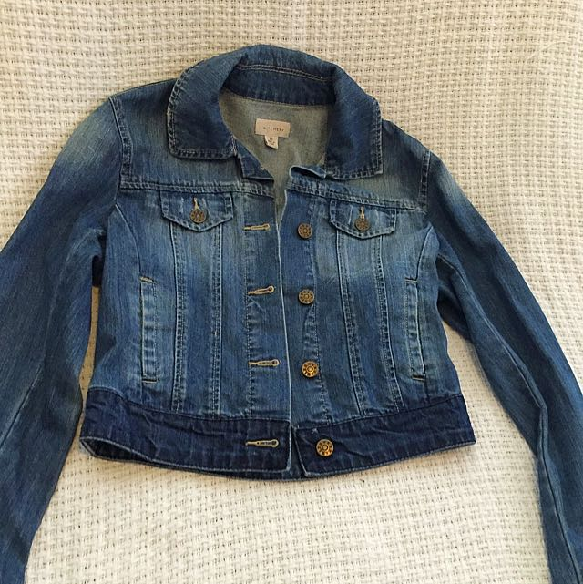WITCHERY Denim Cropped jacket