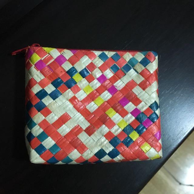 Woven coin purse