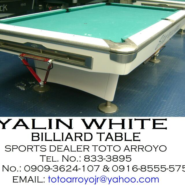 YALIN WHITE BILLIARD TABLE Toys Games Others On Carousell - White billiard table