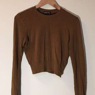 American Apparel Lightweight Crop Knit Sweater