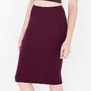American Apparel Ponte Mid-length Skirt