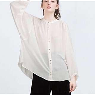Zara Oversized Blouse Button Down