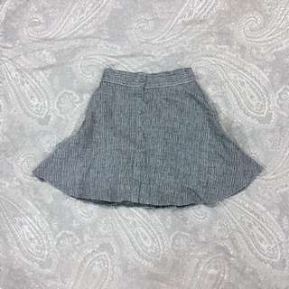 Gmarket Korean Fit And Flare Grey Button Up Skirt