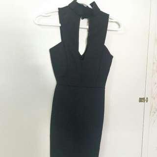 XS Black Cocktail Dress