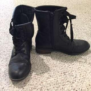 Sirens Combat Boots