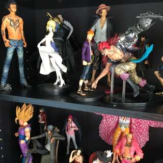 Anime Figures (one Piece, Dragon Ball Z, Naruto, Fate Stay Night, Tokyo Ghoul)