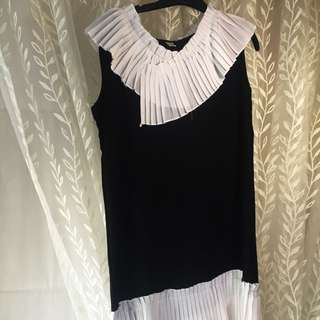 Black And White Chiffon Dress
