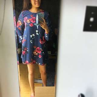 Lond Sleeve Floral Dress