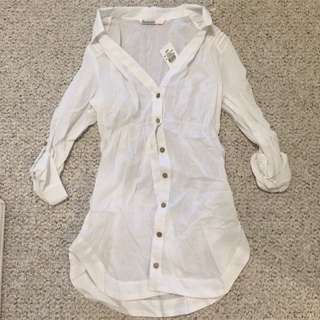 Bluenotes White Button-up