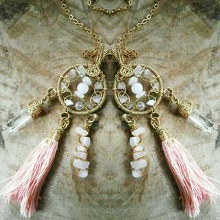 Rose Quartz Dream Catcher