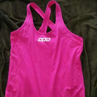 LORNA JANE Fuchsia Bright Pink Cross Over Tank Top Size Small BNWOT
