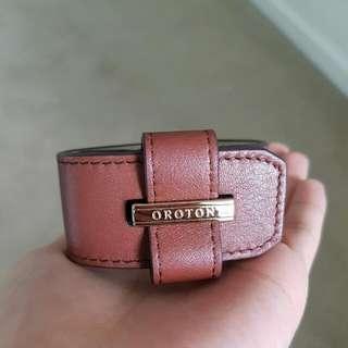 Oroton Brown Leather Bracelet