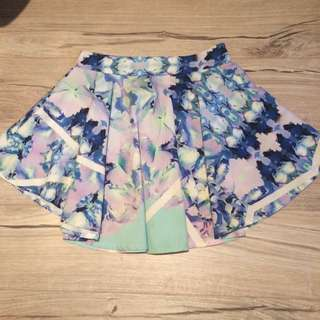 Mooloola Floral Skater Skirt