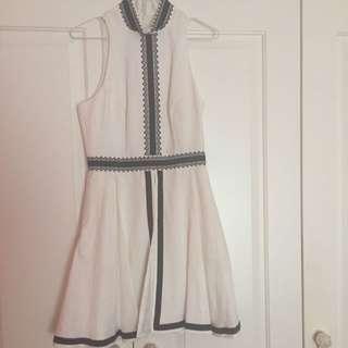 Sass & Bide Mini Dress Size 38 (8) White