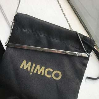 Mimco Silver Bar Reversible Necklace