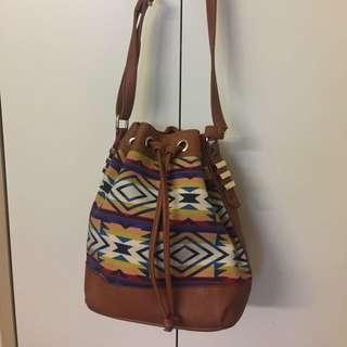 Sportsgirl Aztec Medium Sized Bucket Bag