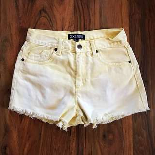 Forever 21 Yellow High Waisted Shorts