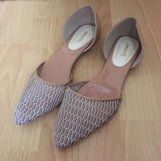 Amante Soft Pink Flat Shoes