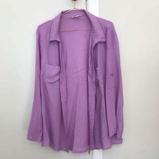 Women's Purple Blouse/Jacket/Cardigan
