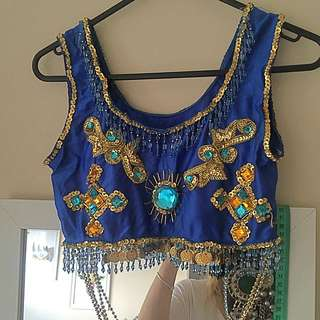 Boho Embellished Festival Crop Top