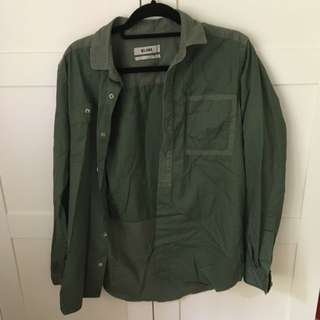 Kloke Khaki/olive Shirt Or Jacket Size Medium