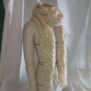 尼泊爾羊毛針織圍巾