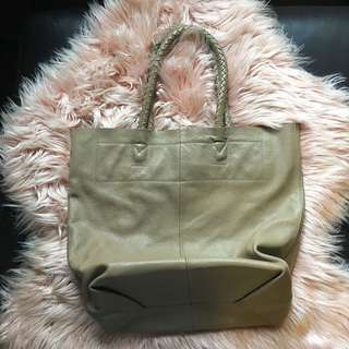 Anizoe Large Leather Tote