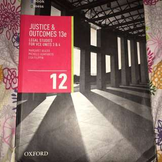 Justice and Outcomes VCE Units 3&4