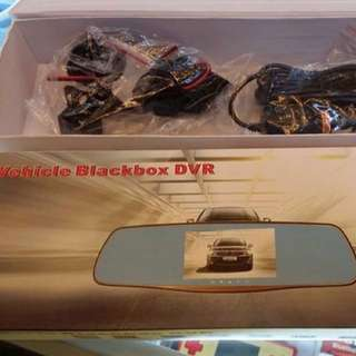 FULL HD 5 Inch Car DVR/Camera Automobile Data Recorder 1080P HD Night Vision 1200Mega Pixel Rearview Mirror Dual Lens