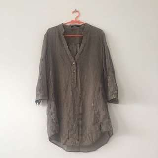 Stripes Shirt In Brown
