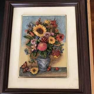 3 D Floral Picture Frame