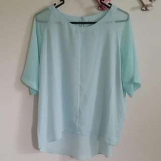Forever New Baby Blue Blouse - Size 10