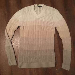 #Dirty30 Armani Exchange Knit Sweater V-neck Ombre