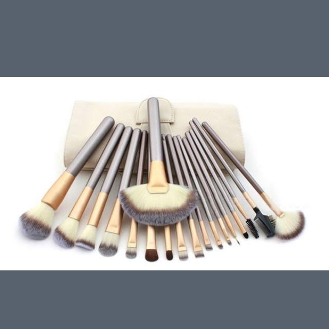 12pc makeup brush set