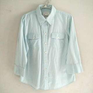Blue White Line Shirt