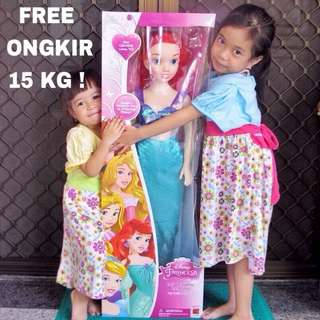 Large Big Ariel Little Mermaid Doll Boneka Besar Jumbo Giant Barbie 100cm 1M 100 Cm 1 Meter