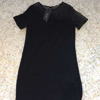 T Shirt Dress- Sheer Top Half