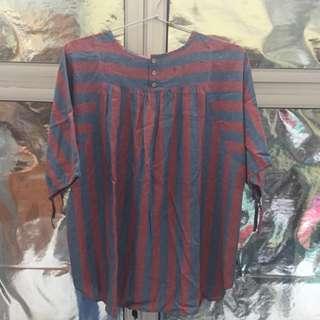 Preloved Plus Sized Stripes Shirt