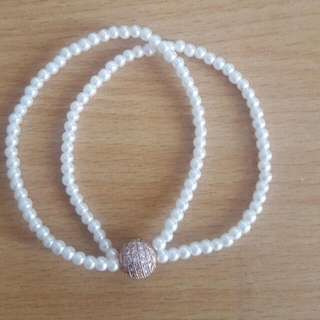 Pearl Bracelet With Rose Gold Bead