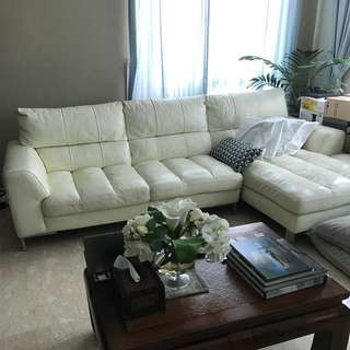 Good Condition Full Leather Sofa Bought At $3300