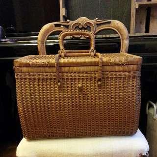 [Japan] Vintage rattan basket
