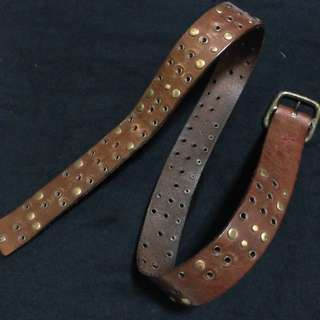 Esprit Brown Studded Leather Belt