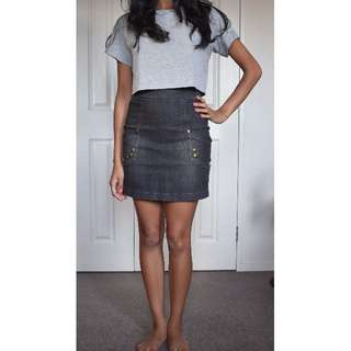 Supre A- line dark wash denim skirt