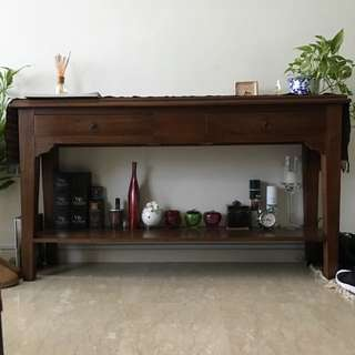 Excellent Condition Full Teak Side Table Bought At 800