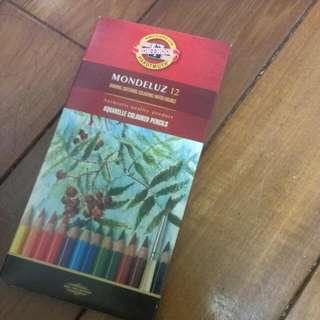 捷克帶回! 色鉛筆 加水變 水彩 兩用筆