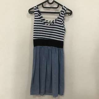 Blue Stripes Dress